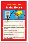 NEW Safety Cautionary POSTER - Fire Safety In The House