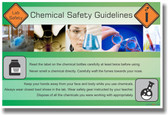 NEW Safety Cautionary POSTER - Chemical Safety Rules