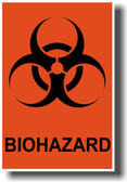 Biohazard Symbol - Orange Background