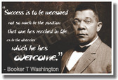 PosterEnvy - Success Is to Be Measured - Booker T. Washington - NEW Famous Person Quote Poster