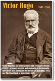 Victor Hugo - NEW Famous French Writer Poster