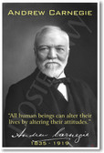 Andrew Carnegie - All Human Beings Can Alter Their Lives - NEW Famous Person Poster