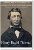"Henry David Thoreau - ""I Learned This..."" - NEW Famous American Author Classroom POSTER"