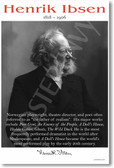 Henrik Ibsen - NEW Famous Person Classroom POSTER