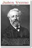 Jules Verne - NEW Famous French writer novelist literature reading Author Classroom POSTER (fp274)