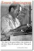 Ernest Hemingway - The Wisdom of Old Men - NEW Famous Person Poster
