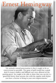 "Ernest Hemingway - ""My Attitude Towards Punctuation..."" - NEW Famous Person Poster"