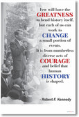 Robert Kennedy - Few Will Have The Greatness - NEW Famous Person Poster