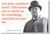 """Winston Churchill - """"You Have Enemies?..."""" - NEW Famous Person Poster"""