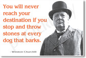 "Winston Churchill - ""You Will Never Reach Your Destination If..."" - NEW Famous Person Poster"