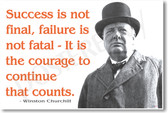 Winston Churchill - Success Is Not Final - NEW Famous Person Poster