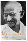 Where There is Love There is Life - NEW Famous Person Poster