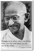 Happiness Is When - Gandhi - NEW Famous Person Poster