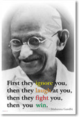 First They Ignore You - Gandhi - NEW Famous Person Poster