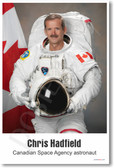 Chris Hadfield - Canadian Space Agency Astronaut - NEW Famous Person Poster