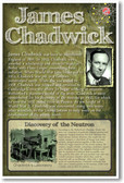 James Chadwick - NEW Famous Scientist Poster
