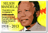 Nelson Mandela 5 - NEW Famous Person Poster