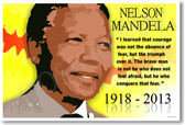 Nelson Mandela 4 - NEW Famous Person Poster