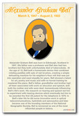 Alexander Graham Bell - NEW Famous Person Poster