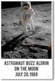 Buzz Aldrin On The Moon July 20,1969 - NEW Famous Person Poster