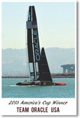 2013 Americas Cup Winner Team Oracle - Poster