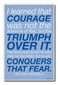 "Nelson Mandela - ""... Courage was not the Absence of Fear"" - NEW Famous Person Poster"