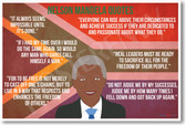 Nelson Mandela Quotes - NEW Famous Person Poster