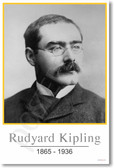 Rudyard Kipling - NEW Famous Person Poster