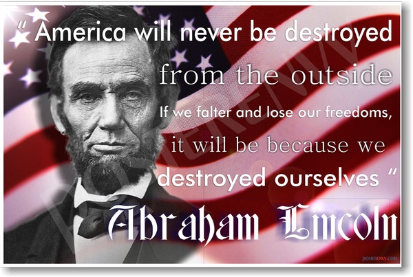 Abraham Lincoln Internet Quote Poster | drunkMall |Abraham Lincoln Poster Lax