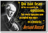 Bertand Russell - Do Not Fear - NEW Famous Person Poster