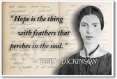 Emily Dickinson - Hope - New Famous Person Poster