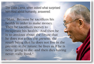 Dalai Lama - Humanity - NEW Famous Person Quote Classroom Poster (fp184) Spiritual Motivational Religious Tibet PosterEnvy