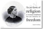 Susan B Anthony - NEW Famous Person Quote POSTER