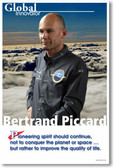 Bertrand Piccard Global Innovator - Solar Airplane Pilot PosterEnvy Ecology Poster