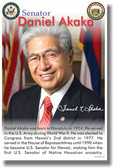 US Senator Daniel Akaka - First Native Hawaiian Senator