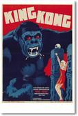 King Kong - German - NEW Vintage Movie Poster