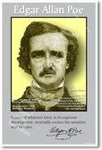 Edgar Allan Poe - American Author Poster
