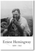 Ernest Hemingway with Tommy Gun