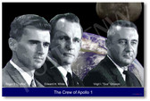 Crew of Apollo 1 - NEW Science Famous Astronauts POSTER