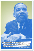 """Martin Luther King - """"Progress is precarious, and the solution of one problem brings us face to face with another problem."""""""
