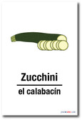 El Calabacin - Zucchini In Spanish - NEW Foreign Language Educational POSTER