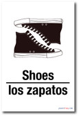 Los Zapatos - Shoes In Spanish - NEW Foreign Language Educational POSTER