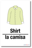 La Camisa - Shirt In Spanish - NEW Foreign Language Educational Classroom POSTER