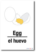 El Huevo - Egg In Spanish - NEW Foreign Language Educational POSTER