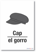El Gorro - Cap In Spanish - NEW Foreign Language Educational POSTER