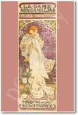 The Lady of the Camellias 1896 by Alfons Mucha - NEW Fine Arts Poster