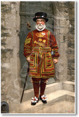 A Yeoman Warder in Tudor State Dress - A Beefeater - 1895 - NEW Fine Arts Poster