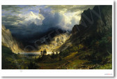 A Storm in the Rocky Mountains Mt Rosalie - Albert Bierstadt 1866 - NEW Fine Arts Poster