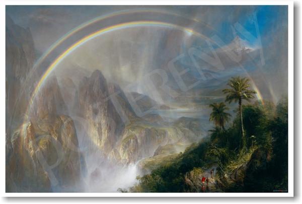 RAINY SEASON IN THE TROPICS 1866 RAINBOW LANDSCAPE BY FREDERIC E CHURCH REPRO
