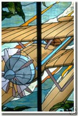 Seaplane in Stained Glass